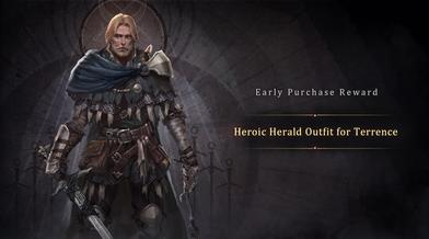 Early Purchase Reward-Heroic Herald Outfit for Terrence