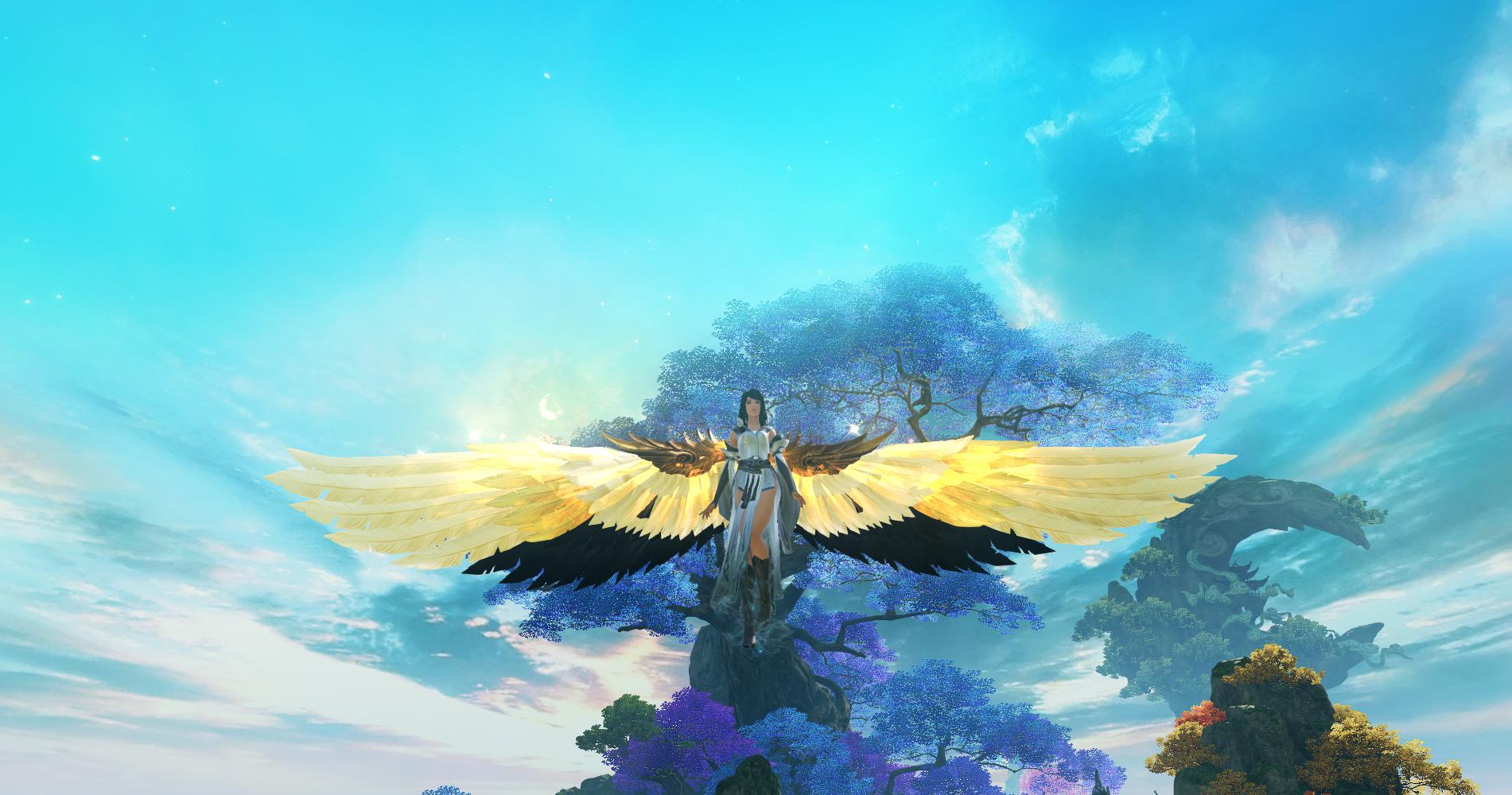 万古云霄    获取途径:十方镇皇北樱处购买;   三,鹤啸之翼    翅膀
